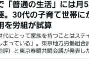 【悲報】東京で「普通の生活・子育て」30代で月54万必要←は?