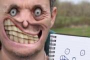 【閲覧注意】人間の顔をイラストで再現した結果wwww