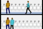 【画像】トイレとかでわざわざ隣に座ってくるやつなんなの?